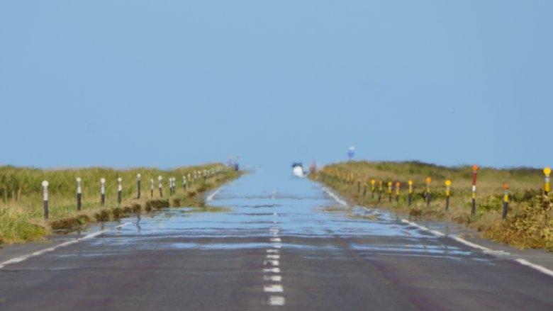 mirage on roadway
