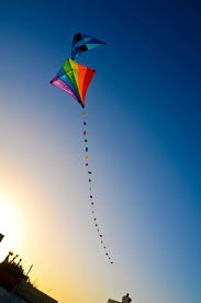 a small kite in the sky